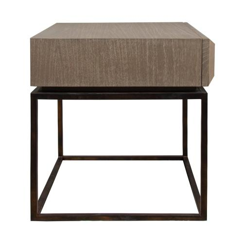 Lamp Table, Available in Modern Grey Finish Only.