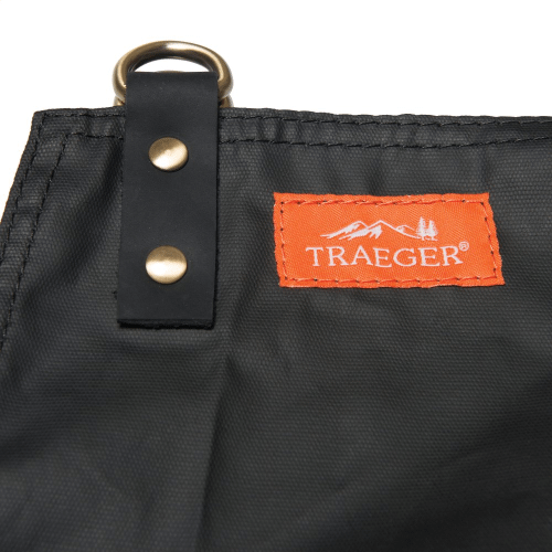 Grilling Apron - Black Waxed Canvas & Leather