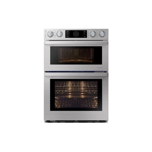 """Samsung - 30"""" Flex Duo™ Chef Collection Microwave Combination Wall Oven in Stainless Steel"""