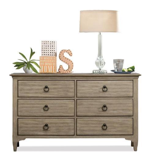 Myra - Six Drawer Small Dresser - Natural Finish
