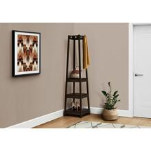"COAT RACK - 72""H / ESPRESSO CORNER WITH 3 SHELVES"