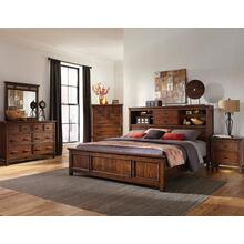 Wolf Creek Queen Bookcase Storage Bed