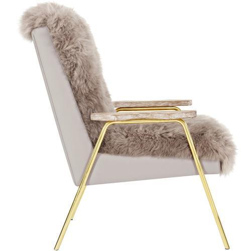 Sprint Sheepskin Armchair in Brown Brown
