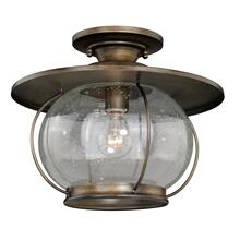 "Jamestown 13-1/2"" Semi-Flush Mount Parisian Bronze"