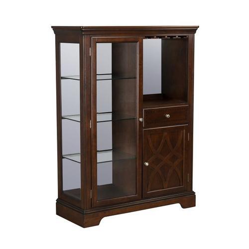 Standard Furniture - Woodmont Curio Cabinet, Brown Cherry