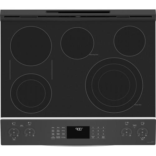 """GE Profile™ 30"""" Slide-In Electric Convection Range with No Preheat Air Fry Stainless Steel - PSS93YPFS"""