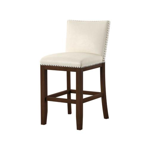 Gallery - Tiffany Bonded Counter Chairw/Nailhead, White