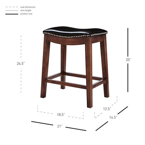 New Pacific Direct - Elmo Bonded Leather Counter Stool, Brown