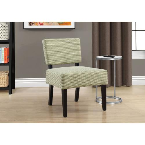 Gallery - ACCENT CHAIR - LIGHT / DARK GREEN ABSTRACT DOT FABRIC
