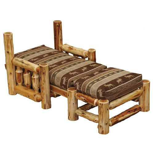 Futon Chair with Ottoman - Natural Cedar