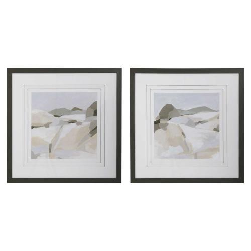 Western Landscape Framed Prints, S/2