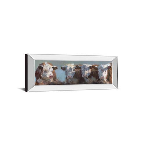 "Classy Art - ""Little Bull & The Babes"" By Carolyne Hawley Mirror Framed Print Wall Art"
