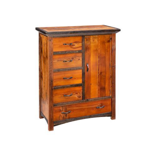 Mossy Oak Natchez Trace 5 Drawer 1 Door Chiffonier