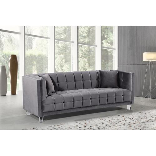 "Mariel Velvet Sofa - 86.5"" W x 31"" D x 31"" H"