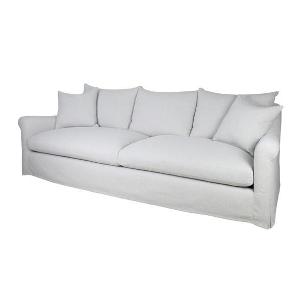 """Celeste 104"""" Slipcovered Sofa - Twill Linen"""