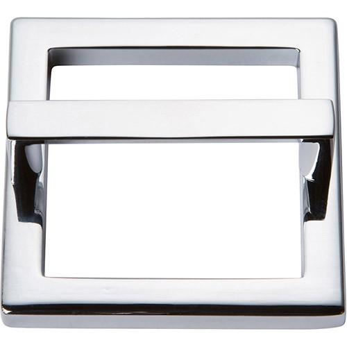 Atlas Homewares - Tableau Square Base and Top 2 1/2 Inch (c-c) - Polished Chrome