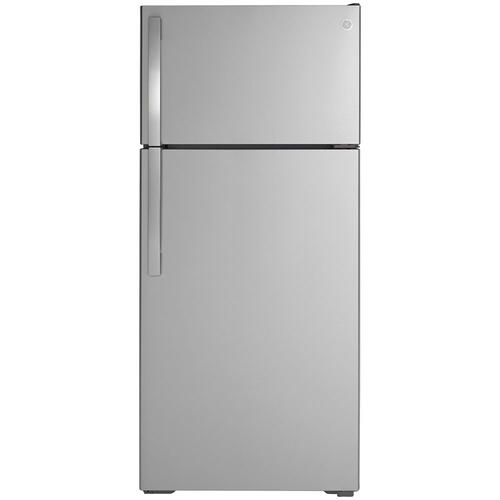GE® ENERGY STAR® 17.5 Cu. Ft. Top-Freezer Refrigerator Stainless Steel - GTE18GSNRSS