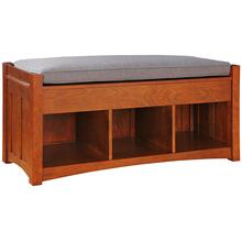 Loose Cushion Storage Bench, Cherry Storage Bench