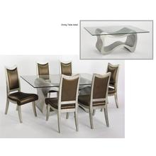 "Dining Table with Glass Base: 53x21x29"", Glass: 45x76"" & 1/2"" thickness"