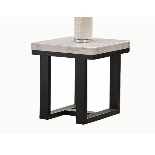 Gallery - Lucca White Marble Top End Table