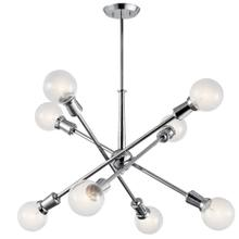 "Armstrong 26"" 8 light Chandelier Chrome"