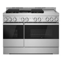 """See Details - NOIR 48"""" Gas Professional-Style Range with Chrome-Infused Griddle and Grill"""