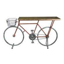 See Details - Bicycle Console Table, Red/blue