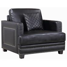"Ferrara Leather Chair - 39.5"" W x 35"" D x 34"" H"
