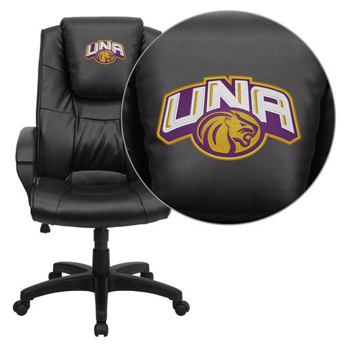 North Alabama Lions Embroidered Black Leather Executive Office Chair