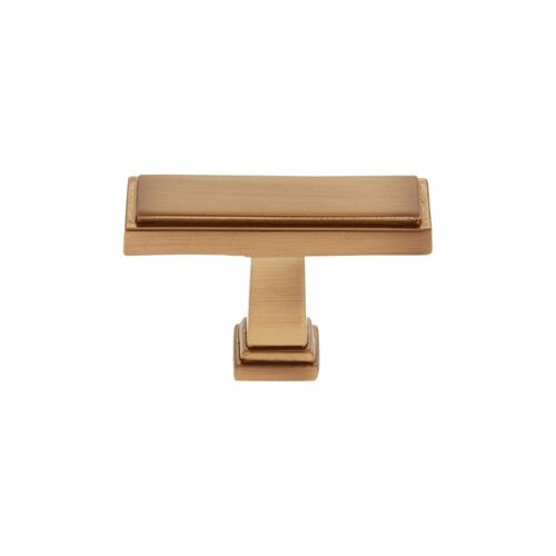 "Satin Brass 1-1/2"" Rectangle Marquee Knob"
