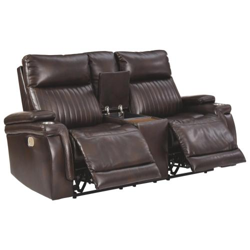 Team Time Power Reclining Loveseat With Console