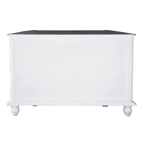 Product Image - Console Cabinet, Angled - Two Tone White and Raftwood
