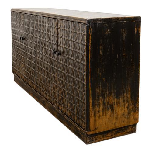 Scrubboard Front Sideboard, Ebony