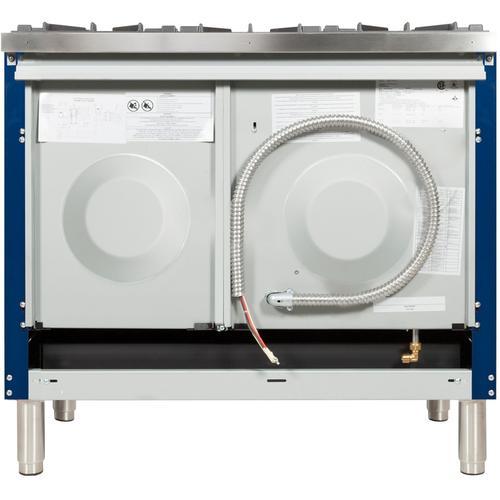 40 Inch Blue Dual Fuel Liquid Propane Freestanding Range