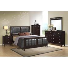 View Product - Lawrence Queen Bedroom Set: Queen Bed, Nightstand, Dresser & Mirror