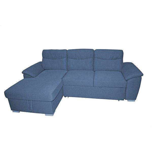 Felix Navy 2pc Sleeper Sectional w/ Storage, SWU9414