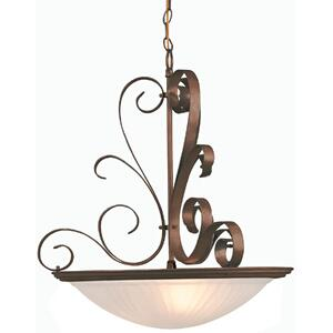 Semi-flush Lamp W/unique Metal Work, Brick, 60wx3/b Type
