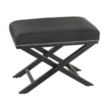 Black Cross Leg bench