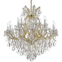 Maria Theresa 19 Light Swarovski Strass Crystal Gold Chandelier