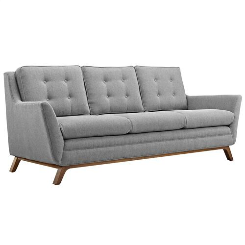 Beguile Living Room Set Upholstered Fabric Set of 2 in Expectation Gray