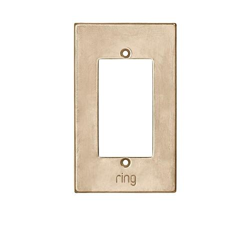 Ring Elite Faceplate - White Bronze Dark