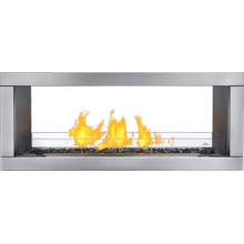 Galaxy See Through Outdoor Gas Fireplace , Stainless Steel , Propane