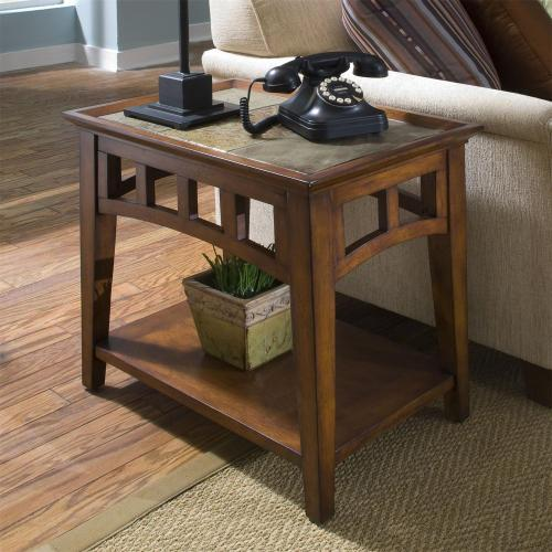 Andorra - Side Table - Eden Burnished Cherry Finish