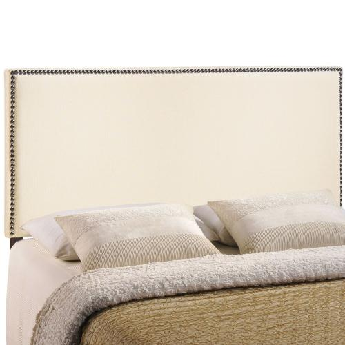 Region Nailhead Full Upholstered Headboard in Ivory