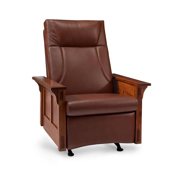 McCoy Rocker/Recliner, Leather Cushion Seat