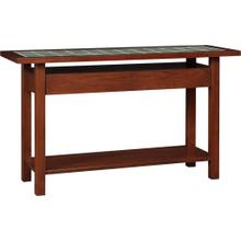 See Details - Cherry Mission Tile Top Console Table