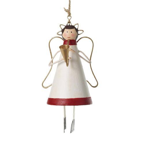 "2.75"" x 5.25 Musical Angel Ornament (Bugle Option)"