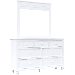 Fishtail White Dresser