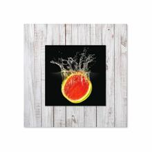 See Details - Watermelon With Background Miniature Fine Wall Art