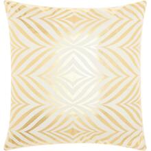 "Luminescence L9294 Ivory/gold 18"" X 18"" Throw Pillow"